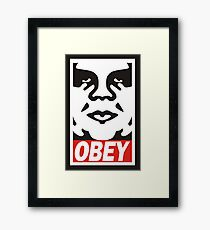 obey the giant Framed Print