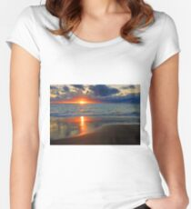 Sunset At Point Peron  Women's Fitted Scoop T-Shirt