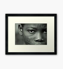 Scarification in Africa Framed Print