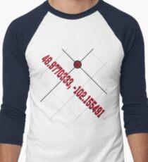 Secret Coordinates to Eden (Logan and Laura) Men's Baseball ¾ T-Shirt