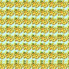 Yellow rose pattern by bywhacky