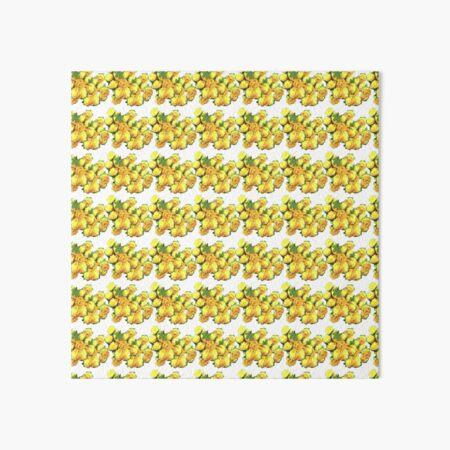 Yellow rose pattern Art Board Print