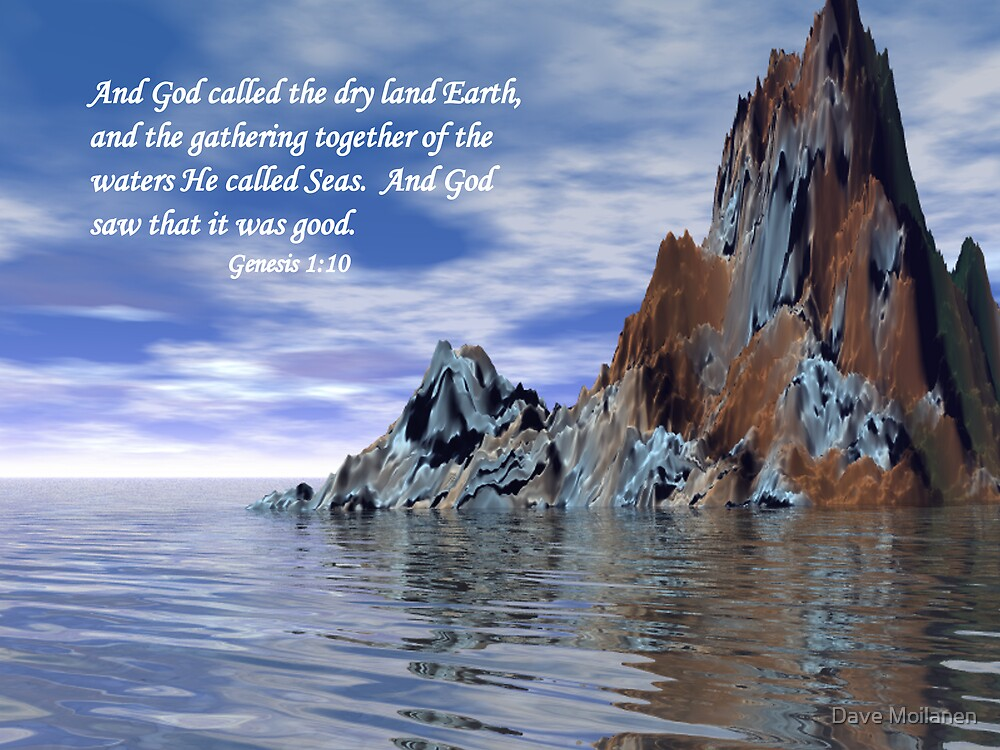 Genesis 1:10 by Dave Moilanen