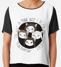Meow Rhapsody 3 Chiffon Top