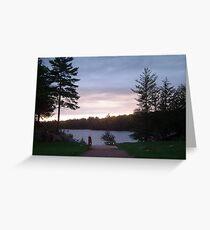 Northern Ontario At Sunset Greeting Card