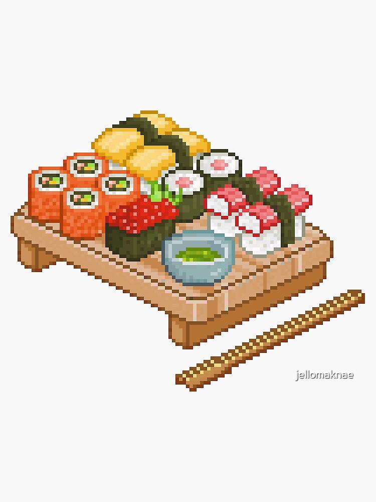 «Pixel Sushi» par jellomaknae