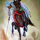 polo player by Hidemi Tada