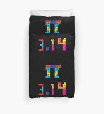 Pi Block Puzzle Video Game Math Pi Day T-Shirt Duvet Cover