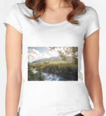 Banff, Alberta - Banff Springs Hotel Women's Fitted Scoop T-Shirt