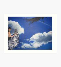 Feathergirl Art Print