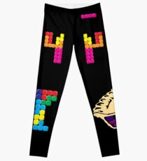 Pi Pie Pun Block Puzzle Video Game Math Pi Day T-Shirt Leggings