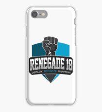 Renegade 18 Logo Large iPhone Case/Skin