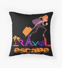 Travel Tshirt Graphic Illustration  Throw Pillow