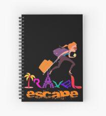 Travel Tshirt Graphic Illustration  Spiral Notebook