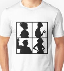 Gorillaz Drunk Demon Days Design (Black and white) Unisex T-Shirt