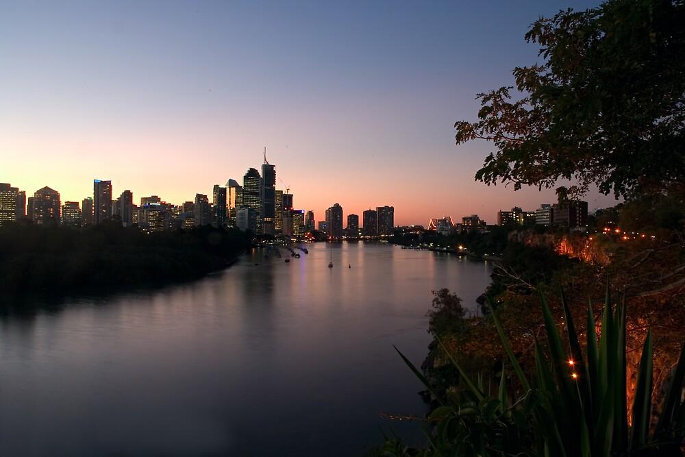 Brisbane City at Dusk by Judy Harland