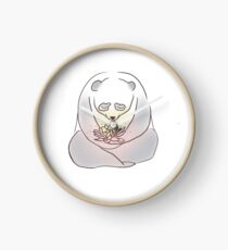 Peaceful Panda Meditates Clock