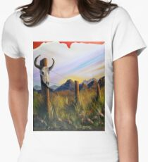 Western Landscape Womens Fitted T-Shirt