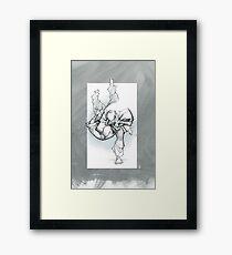 THROW 3_FADE Framed Print