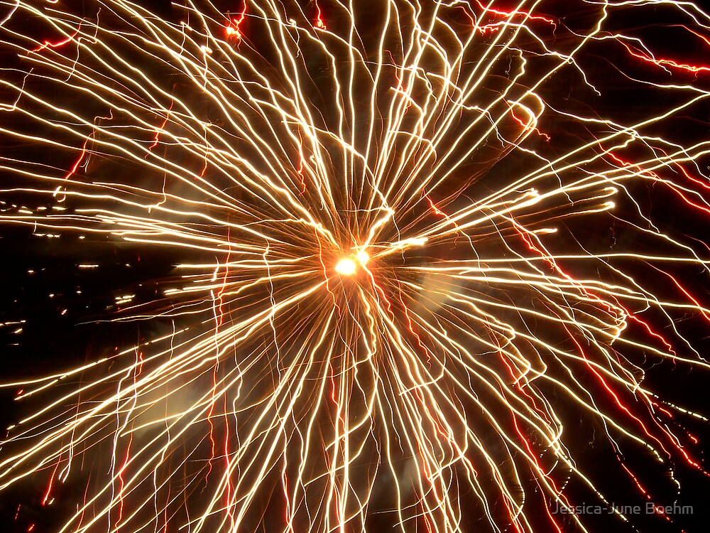 Fireworks For Canada Day by Jessica-June Boehm