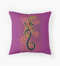 lizard tattoo Throw Pillow