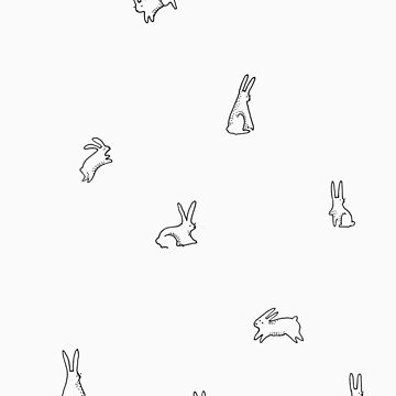 Rabbits playing by clairefranjii