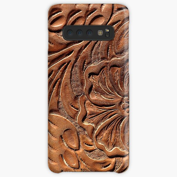 Vintage Worn Tooled Leather Pattern Samsung Galaxy Snap Case
