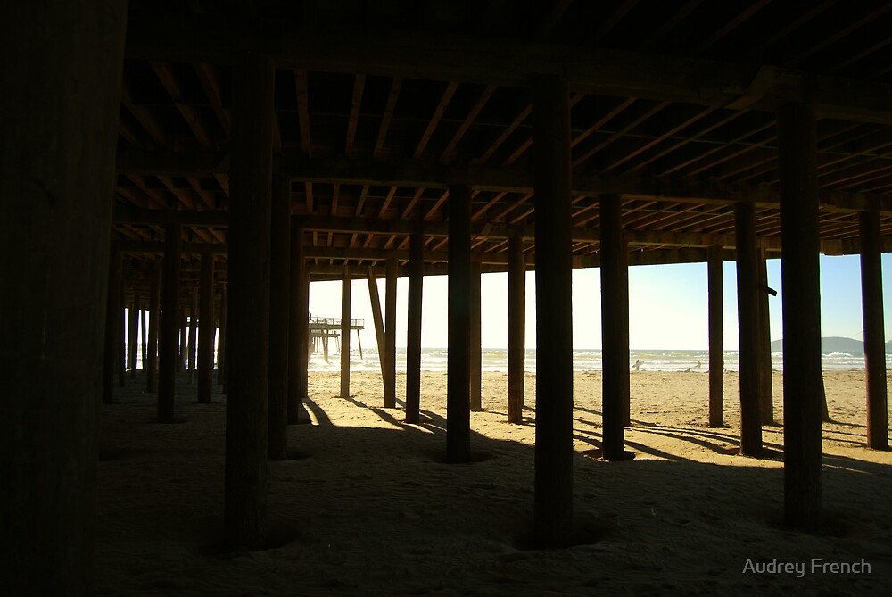 Under the pier by Audrey French