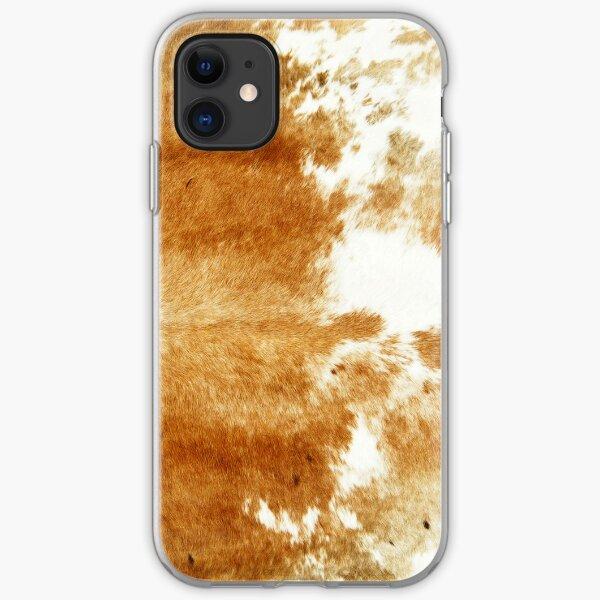 Golden Brown Cow Hide iPhone Soft Case