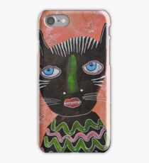 Black Cat Outsider Art iPhone Case/Skin
