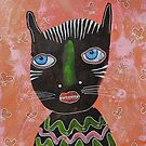 Black Cat Outsider Art by BeatriceM