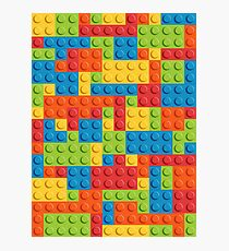 Lego Pattern Photographic Print