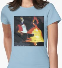 Graphic Tshirt Temple bells Artistic style Womens Fitted T-Shirt