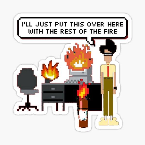 I.T. Crowd- Fire 8-Bit Sticker