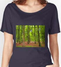 Beautiful lush Forest landscape Women's Relaxed Fit T-Shirt