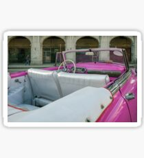 Detail of a luxury Cuban vintage car Sticker