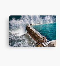 Bondi Beach Splash Canvas Print