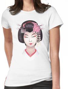 Cute asian girl Womens Fitted T-Shirt