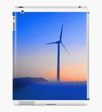 Alternative energy wind mills in the snow iPad Case/Skin