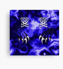 Crossface blue Canvas Print