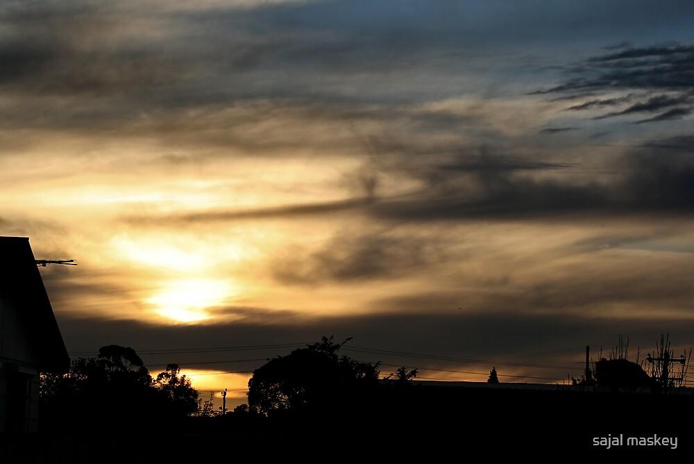 sunsetandhouse by sajal maskey