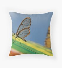 wings of glass Throw Pillow