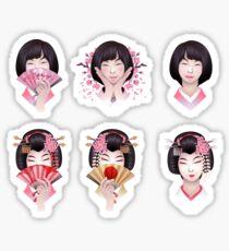 Cute asian girls Sticker