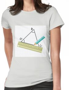 pencil Womens Fitted T-Shirt