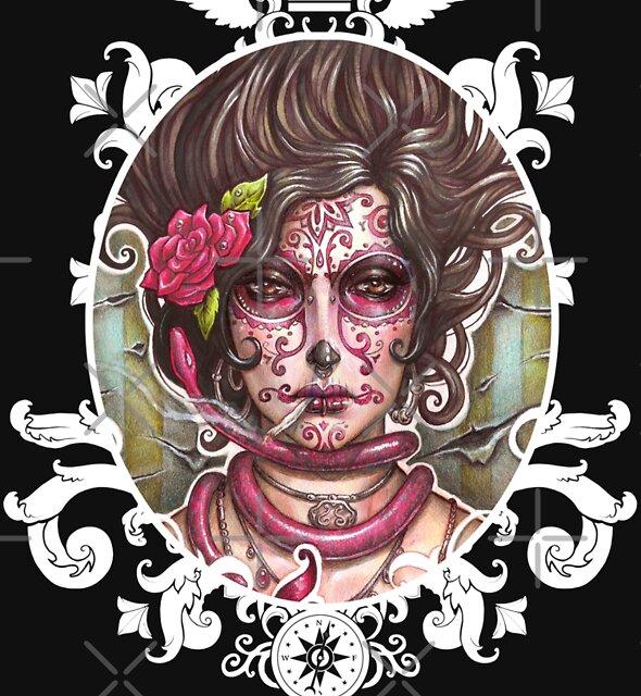 Catrina Colorada by Medusa Dollmaker