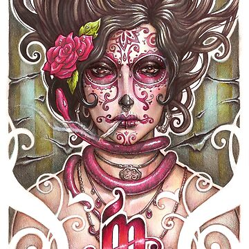 Catrina Colorada by medusadollmaker