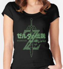 Breath of the Wild - Japanese Women's Fitted Scoop T-Shirt