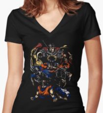 Anime Hero Women's Fitted V-Neck T-Shirt