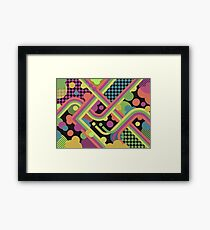 Multi-Color Geometric Fantasy Framed Print