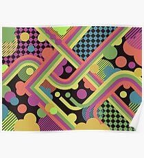 Multi-Color Geometric Fantasy Poster